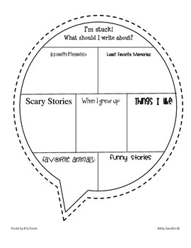 FREEBIE - Writing Brainstorm Bubble {What do I write about?}