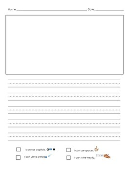 FREEBIE: Writing Paper {Kindergarten- First Grade}