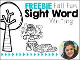 FREEBIE ll {Fall Fun!} Sight Word Sentences & Writing Prompts