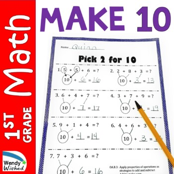 Make the Magic Number 10 FREEBIE:  Sum of ten, Add to 10 C