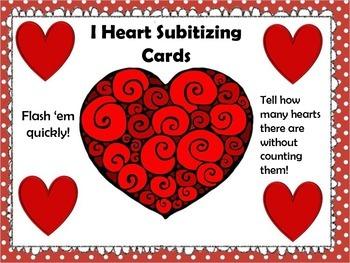 Subitizing Cards - Valentines Day IHeart!