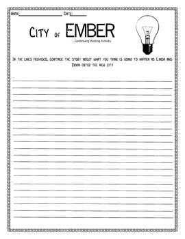 FREEBIE City of Ember Writing