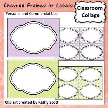 Freebie! Chevron Frames or Labels personal & commercial use