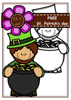 FREE_PATRICK'S DAY Digital Clipart (color and black&white)