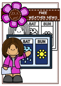 FREE_Weather News Digital Clipart (color and black&white)