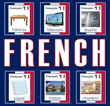 FRENCH AND ENGLISH FLASHCARDS LANGUAGE RESOURCES EDUCATION