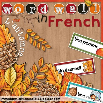 FRENCH AUTUMN WORD WALL - L'AUTOMNE