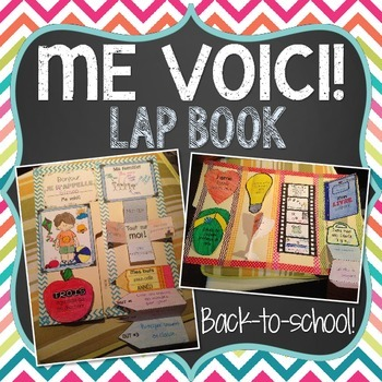 FRENCH All About Me (TOUT SUR MOI/ME VOICI) LAP BOOK for B