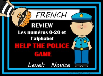 FRENCH - Alphabet and Numbers 1-20 Help the Police Review Game