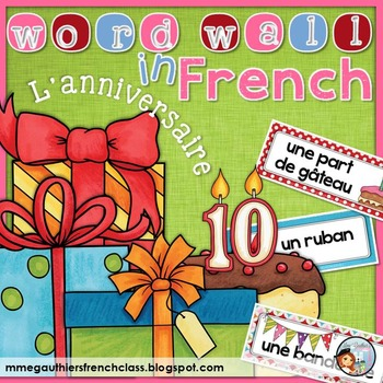 FRENCH BIRTHDAY WORD WALL - L'ANNIVERSAIRE