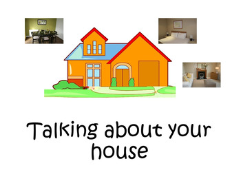 FRENCH BOOKLET - Talking about your house