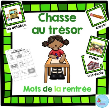 FRENCH {Back to school words Scavenger Hunt}/ Rentrée{chas