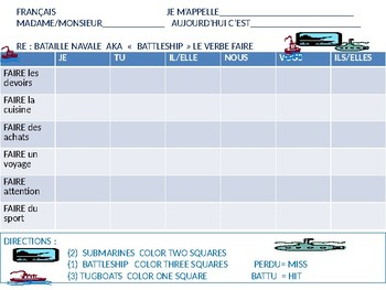 FRENCH:  Battleship game with FAIRE