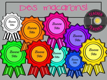 FRENCH Birthday Badges - Birthday Badge {TeacherToTeacher