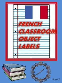 FRENCH CLASSROOM DISPLAY: Classroom Object Labels