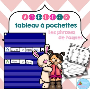 FRENCH Easter Pocket Chart Center/ Atelier lapins de Pâques