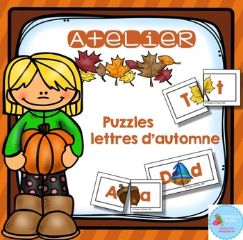 FRENCH {Fall ABC puzzles}/ Automne {Majuscules et minuscules