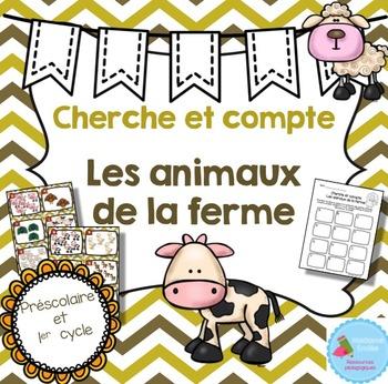 FRENCH Farm animals Count the room/ Cherche et compte (Ani