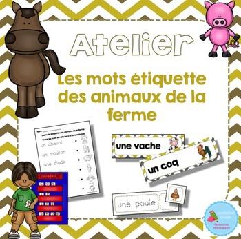 FRENCH {Farm animals Words center}/ Animaux de la ferme{Ét