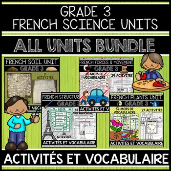 FRENCH GRADE 3 ALL SCIENCE UNITS BUNDLE (SOIL, STRUCTURES,