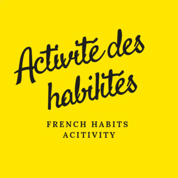 FRENCH Habits activity