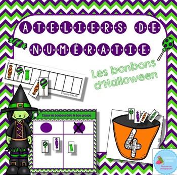 FRENCH Halloween Math Centers/ Ateliers numératie (bonbons