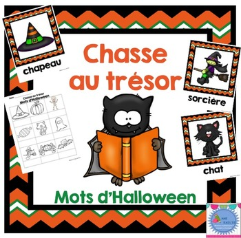 FRENCH {Halloween words Scavenger Hunt}/Halloween {chasse