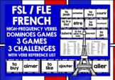 FRENCH VERBS (1) - 3 DIFFERENTIATED DOMINOES GAMES