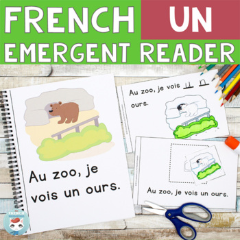 FRENCH Emergent Reader - Au zoo, je vois UN (animaux du zoo)