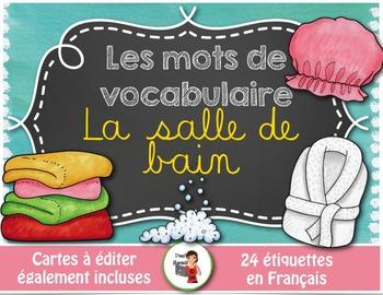 Mots de vocabulaire LA SALLE DE BAIN/24 affiches