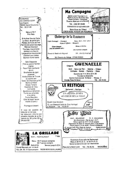 FRENCH - Ma Campagne - Reading Comprehension (Restaurants)