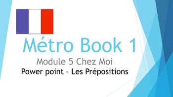 FRENCH - PPT - Métro 1 Module 5 - PREPOSITIONS