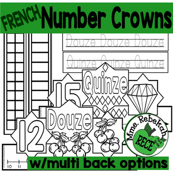 FRENCH Number Crowns Interactive