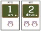 FRENCH Number posters/ Affiches de nombres (Numbers 1-10)