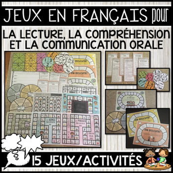 FRENCH ORAL COMMUNICATION, READING & COMPREHENSION GAMES (