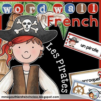 FRENCH PIRATE WORD WALL - LES PIRATES