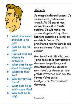 FRENCH - READING PRACTICE - Le Médecin