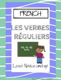 FRENCH Regular -ER -IR -RE Verb Dice Game