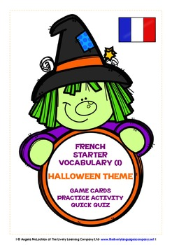 FRENCH STARTER VOCABULARY (1) - HALLOWEEN EDITION - GAMES