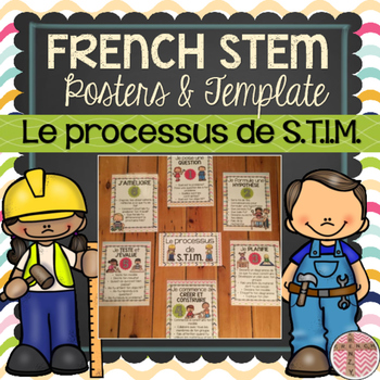 FRENCH STEM Posters and Template (Processus de S.T.I.M) SC