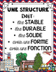 FRENCH STRUCTURES UNIT - GRADE 3 SCIENCE (LES STRUCTURES S