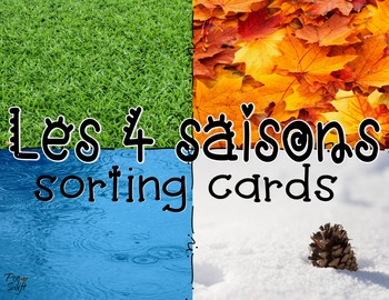 FRENCH Seasons Sorting Cards