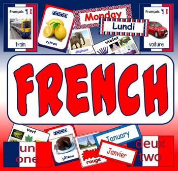 FRENCH TEACHING RESOURCES display posters flashcards colou