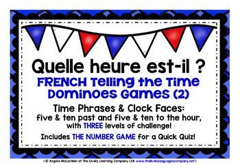 FRENCH TELLING THE TIME DOMINOES GAMES (2)