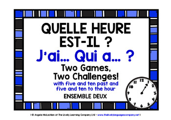 FRENCH TELLING THE TIME GAME (2) - I HAVE, WHO HAS?