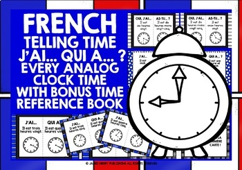 FRENCH TELLING TIME SETS 1, 2 & 3 - I HAVE, WHO HAS? 6 GAM