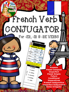 FRENCH VERB CONJUGATOR - For -ER, -IR & -RE Verbs