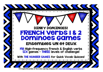 FRENCH VERBS (1&2) - SIX DOMINOES GAMES