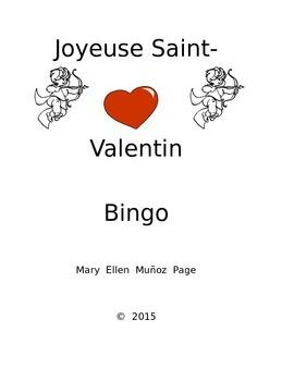 FRENCH  Valentine Bingo