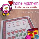 FRENCH Valentine Playdough Mats/ Nombres de Saint-Valentin